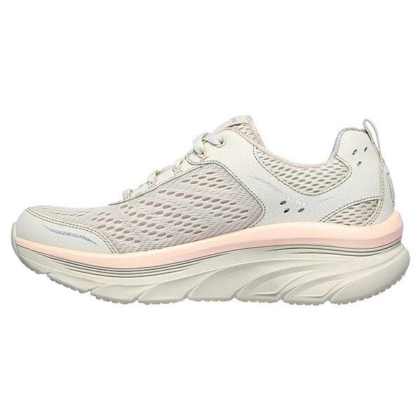 SKECHERS【149023NTPK】D'LUX WALKER 健走鞋 網布 增高 記憶鞋墊 米灰粉 女生