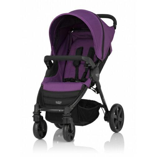 Britax - B-Agile單手收豪華四輪手推車 -紫 (附前扶手) 加購Britax - Baby-Safe提籃享特價優惠!