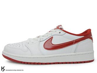 1985 年經典復刻款 台灣未發售 2015 鞋舌 NIKE LOGO 標籤 NIKE AIR JORDAN 1 RETRO LOW OG CHICAGO 低筒 白紅 公牛 皮革 AJ BANNED ..