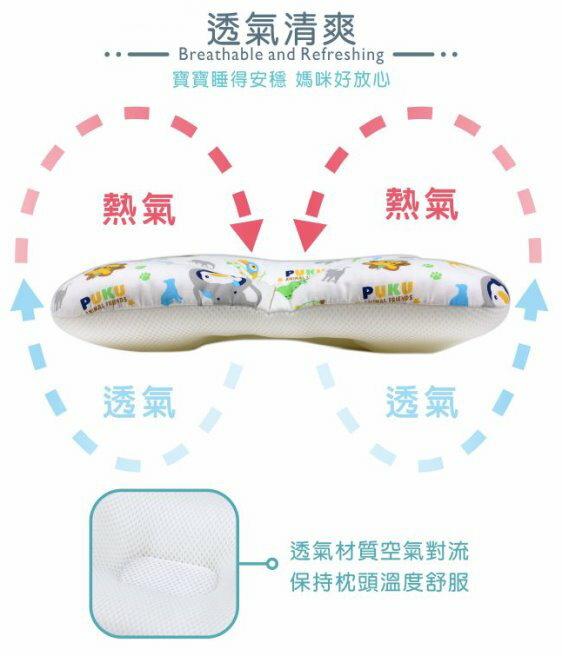 麗嬰兒童玩具館~PUKU藍色企鵝-Breeze透氣雲朵枕 / 嬰兒枕-筆刷點點 / 森林公園 / 動物家(水 / 粉) 2
