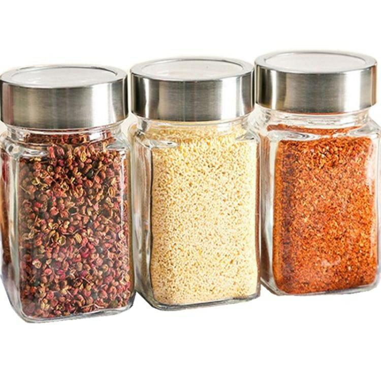 3個裝密封罐玻璃瓶干果醬瓶五谷雜糧收納盒廚房用品調料罐儲物罐