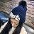 毛帽 字母貼布毛球螺紋反折針織帽【QI1799】 BOBI  11/03 0