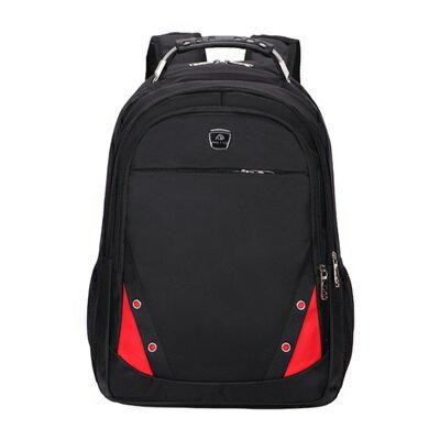 後背包撞色電腦包-商務大容量減震舒適男雙肩包5色73ru7【獨家進口】【米蘭精品】