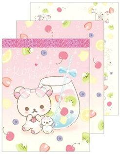 【真愛日本】18051100023日本製小便條本-奶熊海洋水果SAN-X奶熊拉拉熊懶熊便條本便條紙
