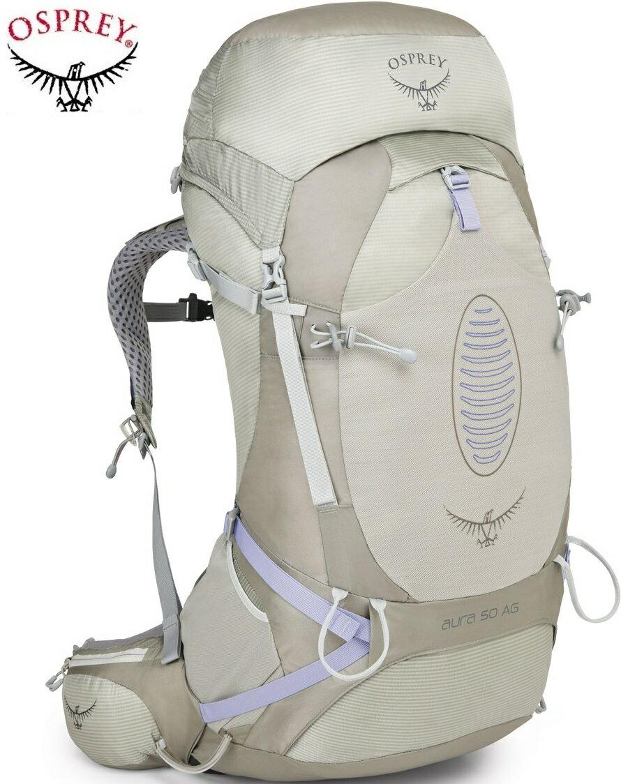 Osprey Aura AG 50 登山背包/健行背包/中背包 女款 條紋銀/台北山水