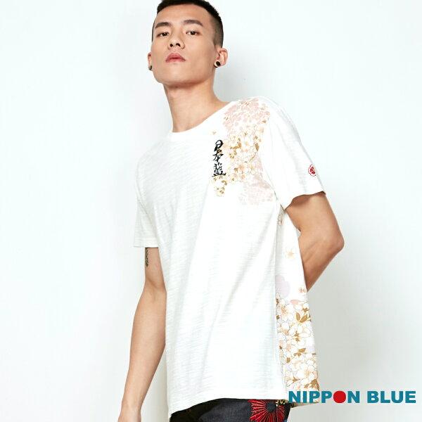 【春夏新品】瑞兆四獸-白虎短TEE(米白)-BLUEWAYNIPPONBLUE日本藍