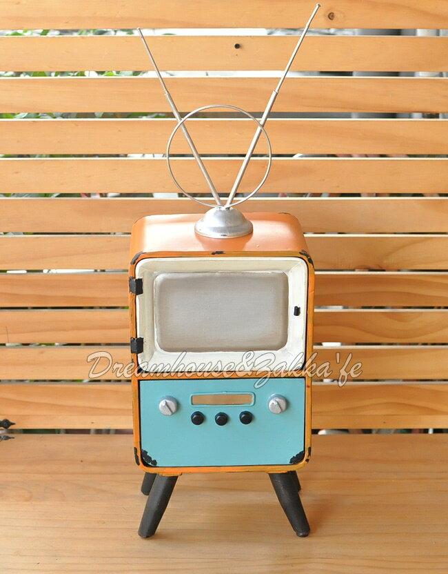 美式鄉村風仿舊 鐵製復古電視造型 置物櫃 / 收納櫃《 一門一抽 》★ 夢想家精品生活家飾 ★ - 限時優惠好康折扣