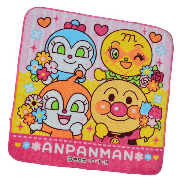 麵包超人手帕方巾毛巾100%綿日本BANDAI正版