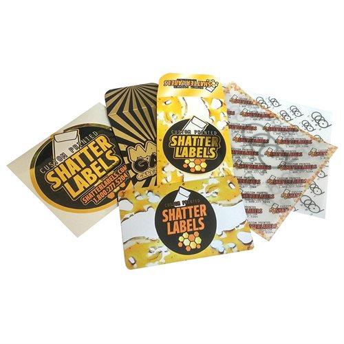 100 Original Black Gold SLAB KING Wax Shatter Labels Coin Foil Envelopes #029 2