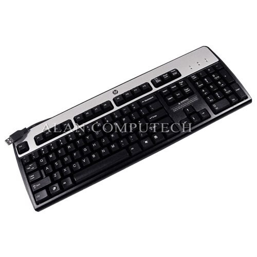 HP KU-0316 DOM Silver Black USB Keyboard NEW 590271-001 Standard US English Wired KB 0