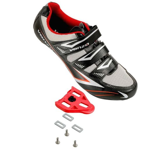 Venzo Road Bike For Shimano SPD SL Look Cycling Bicycle Shoes & Pedals Cleats 44