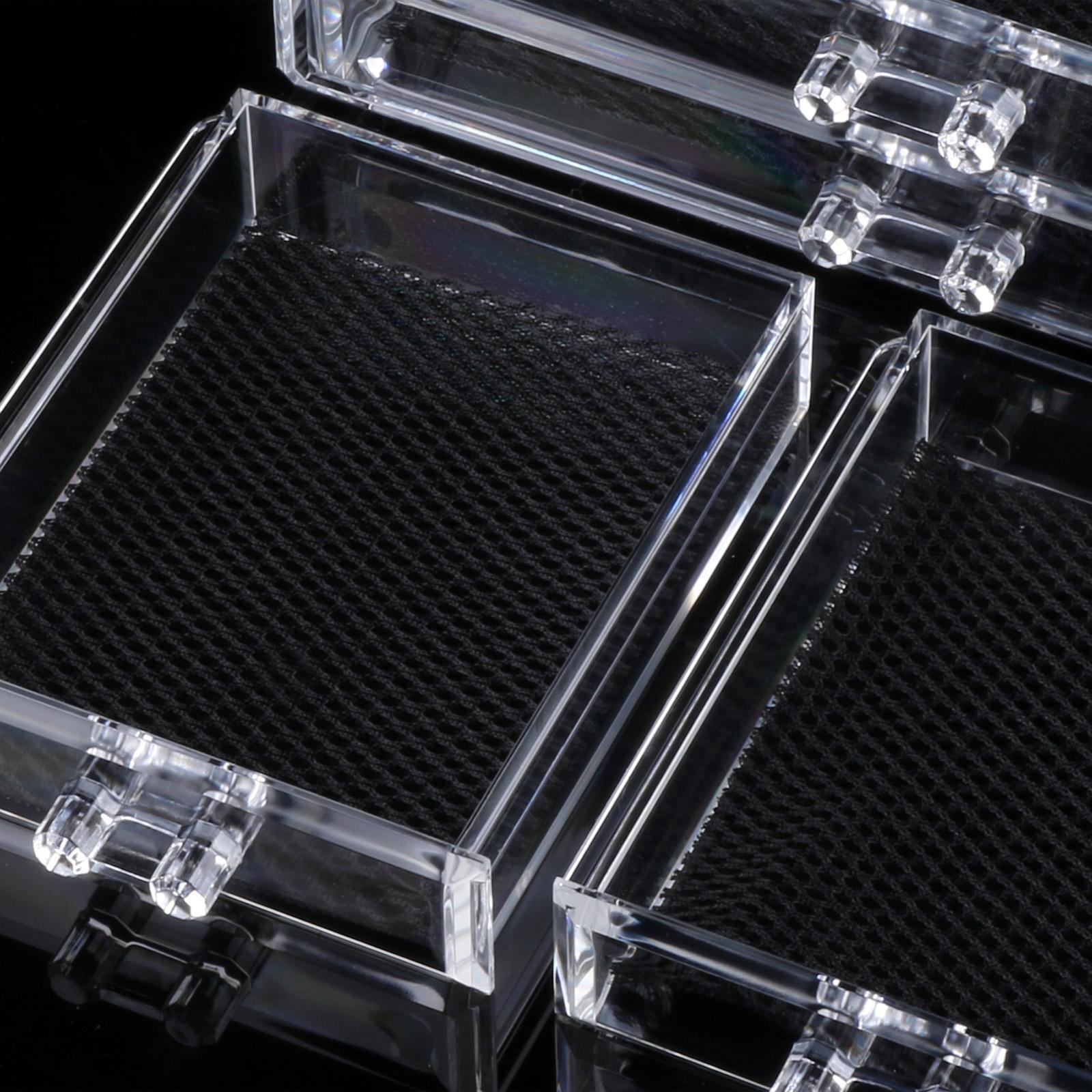 Acrylic Makeup Drawers Grids 3 Tiers Display 4