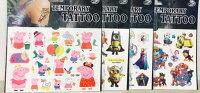 佩佩豬/小小兵/多款卡通紋身貼紙