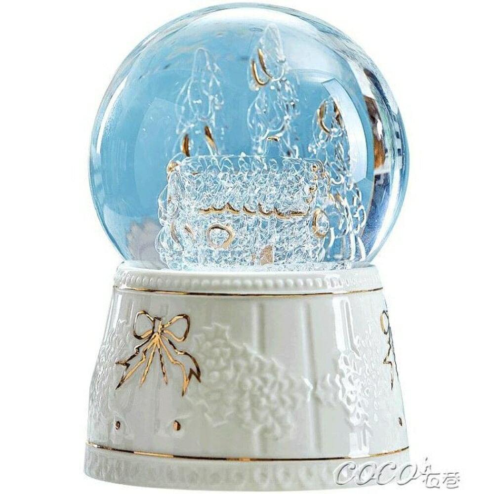 八音盒 創意雪花水晶球音樂盒八音盒 coco衣巷 母親節禮物