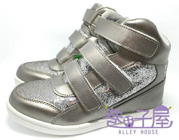 【巷子屋】女款小心機內增高運動休閒鞋 5cm [37040] 銀灰 MIT台灣製造 超值價$298