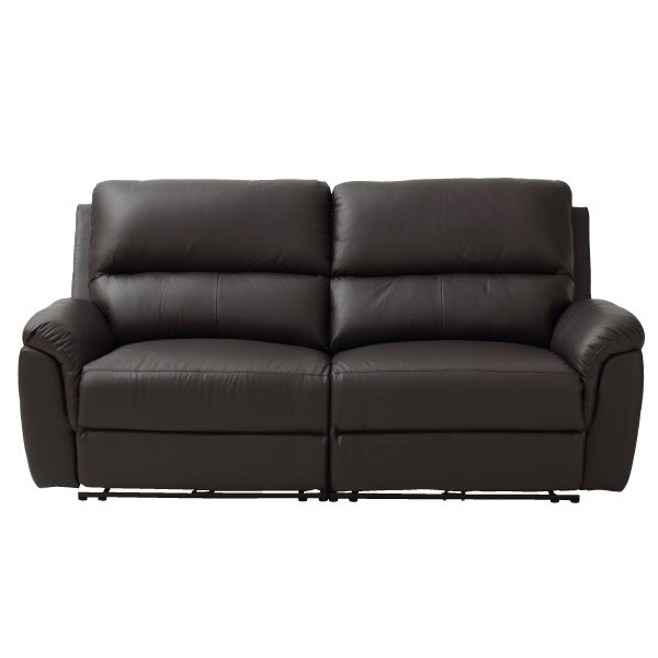 ◎半皮3人用電動可躺式沙發 N-BEAZEL DBR NITORI宜得利家居