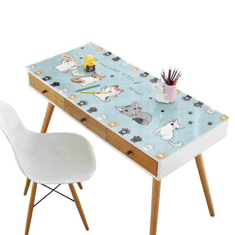 防水寫字桌墊  書桌墊防水學生學習作業寫字臺墊課桌桌面護眼桌布ins兒童家用『CM45140』