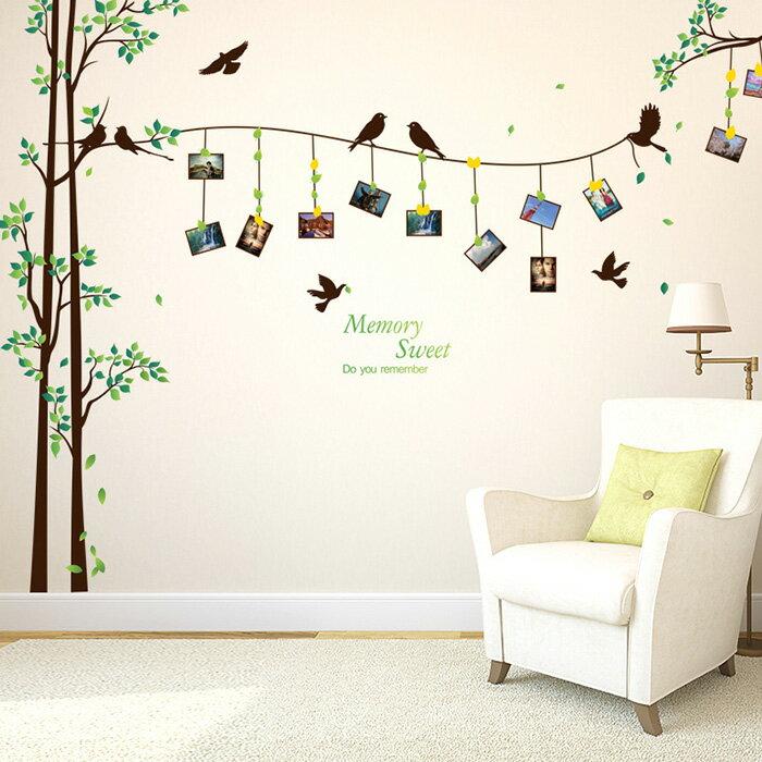 壁貼 照片樹 裝飾牆壁貼紙~YV6675~快樂 網 ~  好康折扣