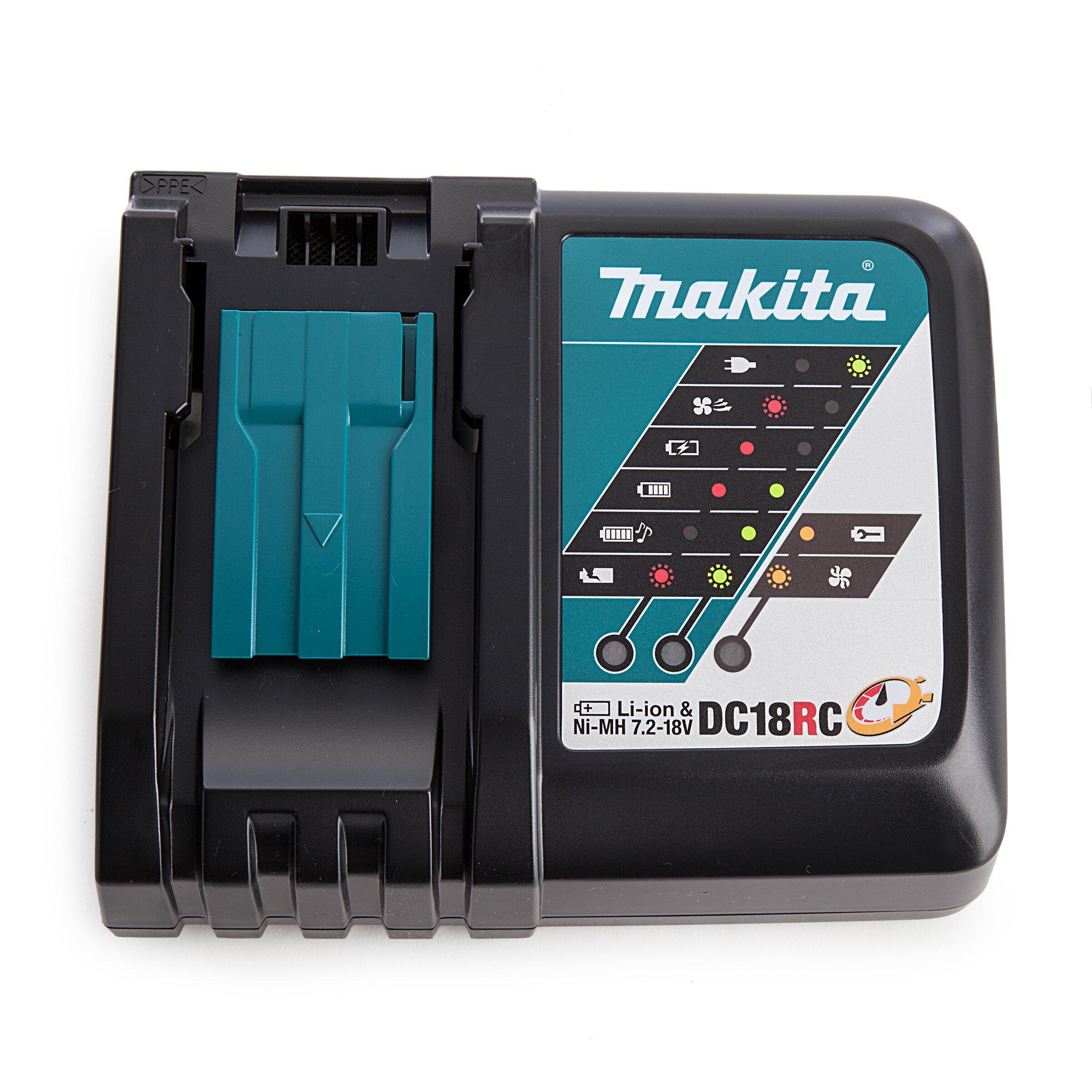 【璟元五金】MAKITA牧田 DC18RC萬用充電器 7.2V~18V 鋰電池與鎳氫電池皆可使用