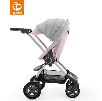 【贈Borny安全帶護套(花色隨機)】Stokke Scoot 2代嬰兒手推車(粉色) 0