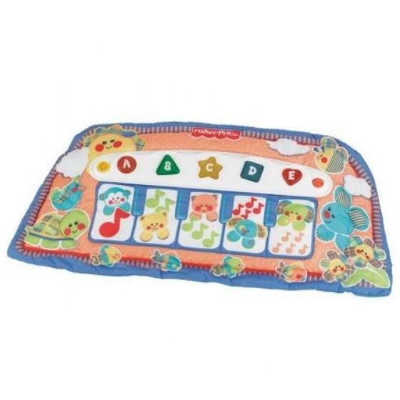麗嬰兒童玩具館~費雪牌專櫃-小baby的音樂踢踢腳鋼琴.優質床掛玩具 3