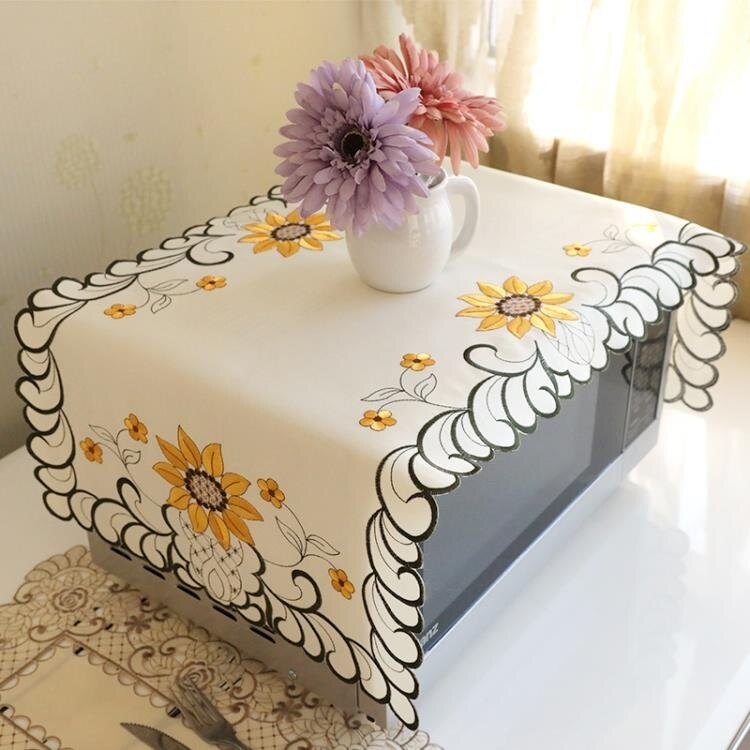 歐式高檔微波爐蓋巾蓋布格蘭仕美的微波爐罩烤箱罩套防塵罩家用