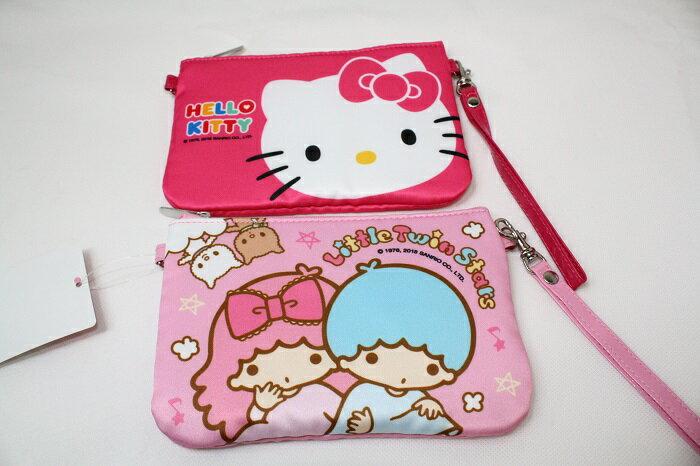 大賀屋 三麗鷗 手提包 零錢包 收納包 包包 Hello Kitty 雙子星 凱蒂貓 正版 T00011616-17
