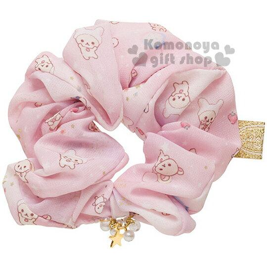 〔小禮堂〕懶懶熊 絲質髮圈《粉.牛奶熊.草莓.星星》也可當可愛手環.變身兔子系列