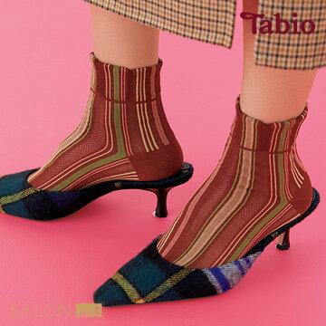 【靴下屋Tabio】多彩條紋網格棉短襪日本職人手做