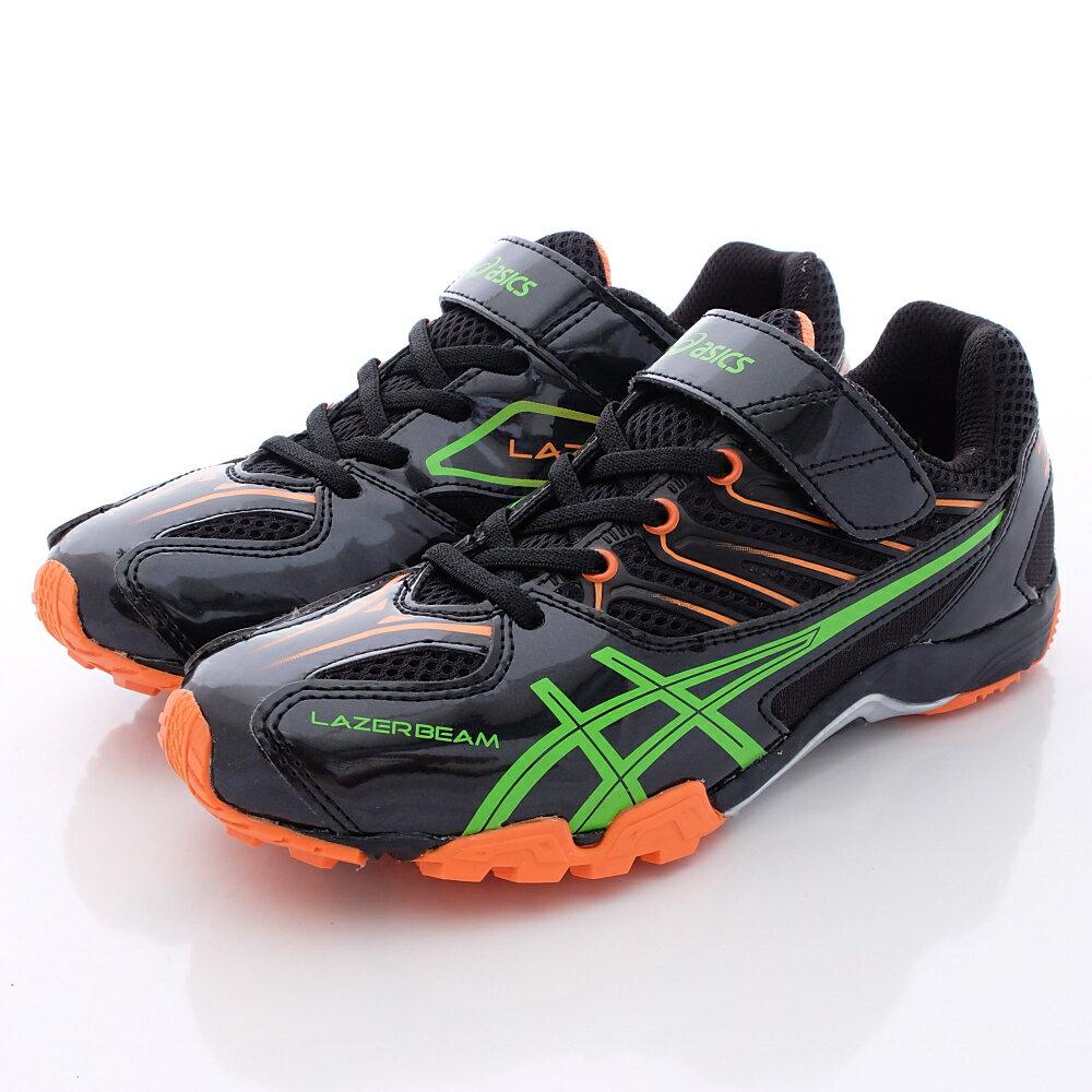 日本亞瑟士ASICS機能童鞋-9086黑綠(中大童段) 618購物節