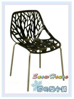 ╭☆雪之屋居家生活館☆╯AA611-038077洽談椅(黑色)造型椅餐椅休閒椅洞洞椅會客椅櫃檯椅吧檯椅