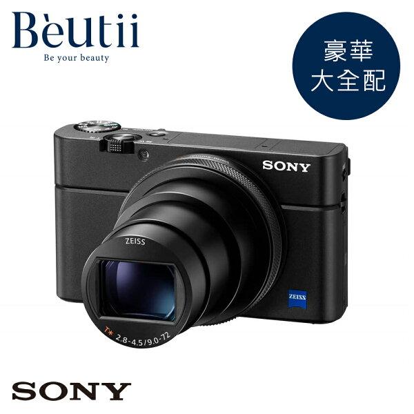 【豪華大全配組】SONYRX100M6數位相機公司貨贈64G+座充+副電+原電+HDMI線+手工相機包RX100M5再進化