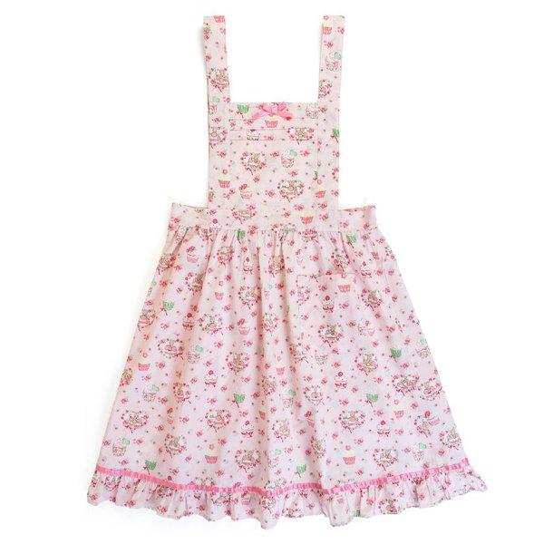 【真愛日本】18091900017純棉滾邊圍裙-MA茉莉兔蛋糕ADI茉莉兔兔媽媽三麗鷗蛋糕圍裙成人用廚房用品