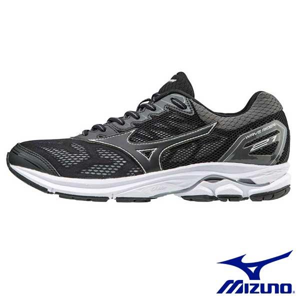 【MIZUNO促銷8折│全店免運】MIZUNO(男)WAVERIDER21一般型男慢跑鞋黑x黑-J1GC180309