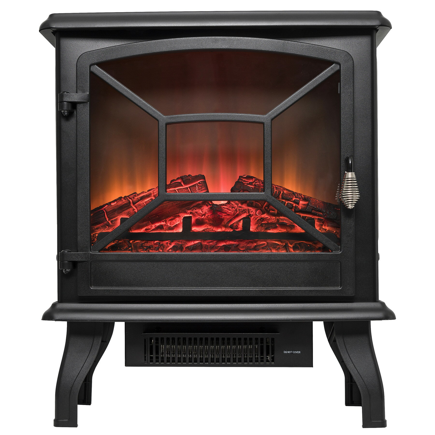 "AKDY 20"" Freestanding Portable 2 Setting Level Electric Fireplace Stove Heater w/ Log Bed 0"