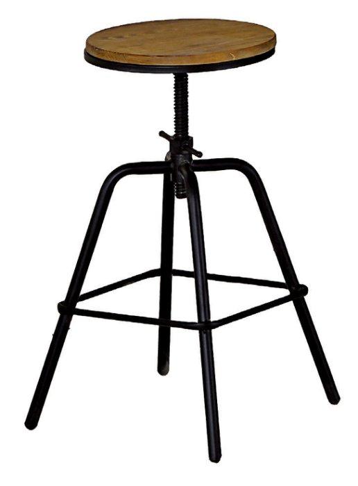 【尚品傢俱】JF-991-14 泰勒原木升降吧台椅