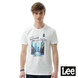 Lee 照片印刷短袖圓領TEE/RG-白色-男款