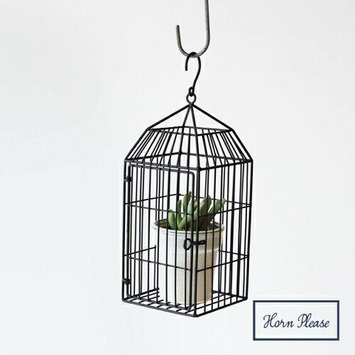 鐵製吊掛鳥籠花器