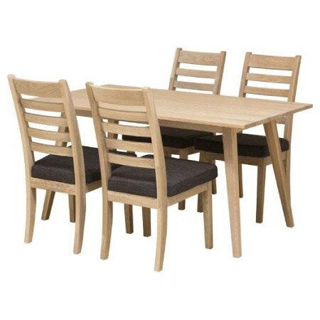 ◎實木餐桌椅五件組 ALAND140 白橡木 NITORI宜得利家居 1