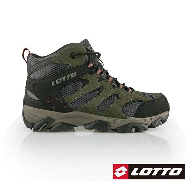 LOTTO樂得-義大利第一品牌 男款Sabre Mid 2 戶外登山鞋 [0558] 灰綠【巷子屋】