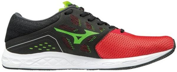 MIZUNOSONIC男鞋慢跑休閒輕量耐磨舒適透氣紅黑綠【運動世界】J1GC173413