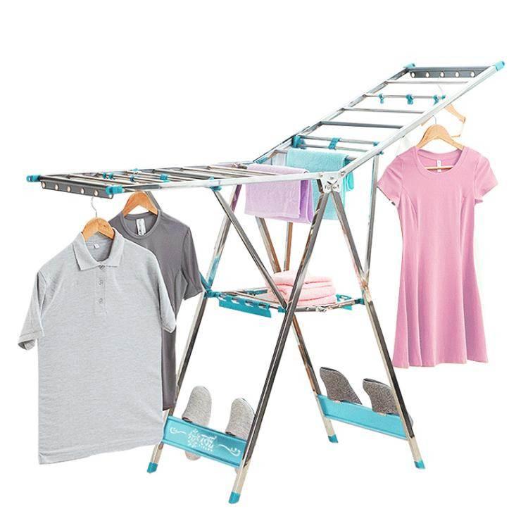 衣炫晾衣架不銹鋼落地折疊翼型室內外簡易曬被架