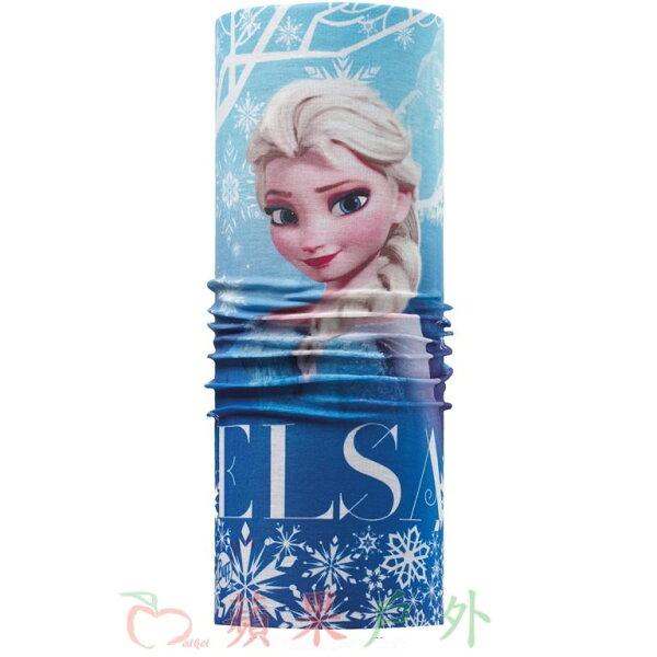 【【蘋果戶外】】BF111266西班牙BUFF魔術頭巾冰雪艾莎ELSA迪士尼冰雪奇緣兒童小頭圍女孩女生
