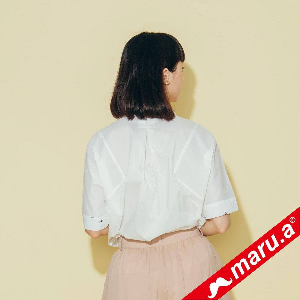 【maru.a】印花拼接V領寬鬆襯衫(2色)8313118 4