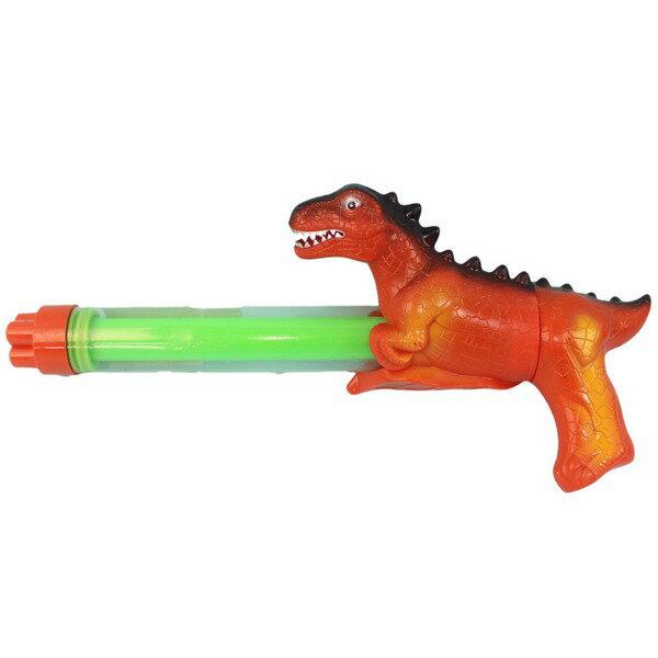 恐龍造型水槍 四噴頭拉把水炮 / 一盒12支入(促120) YT639 透明管抽拉式水槍 手拉水槍棒-CF134493 1