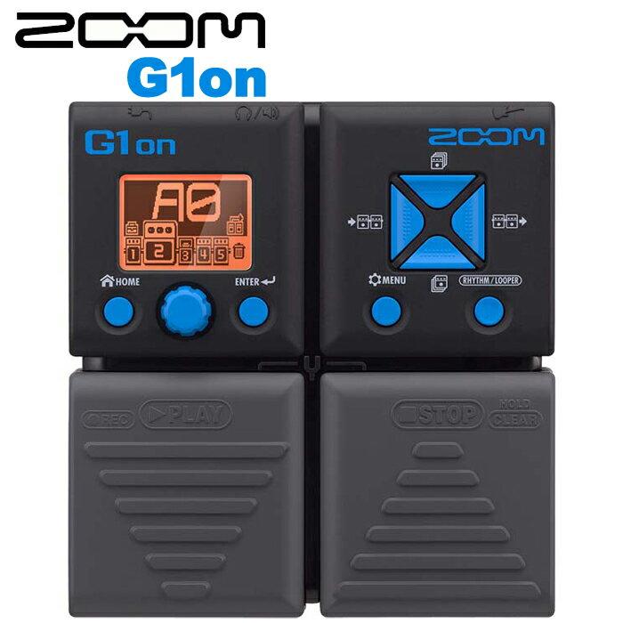 【非凡樂器】ZOOM 電吉他綜合效果器 G1on 綜合效果器/節奏機/原廠公司貨/贈導線.變壓器