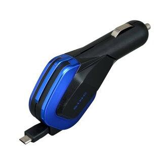 【禾宜精品】手機車充 SEIWA D429 車用充電器自動捲線 mini USB車充 2.4A 黑