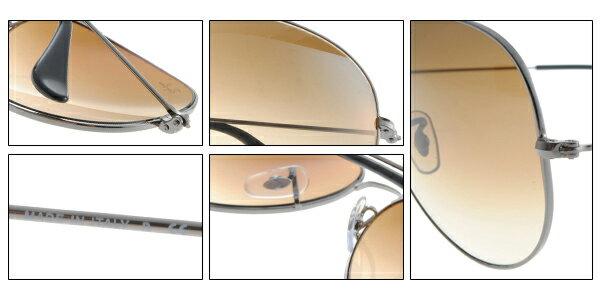 Ray Ban雷朋 銀邊漸層棕鏡 太陽眼鏡 RB3025 7