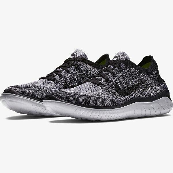 NikeFreeRNFlyknit2018女鞋慢跑休閒赤足編織灰【運動世界】942839-101