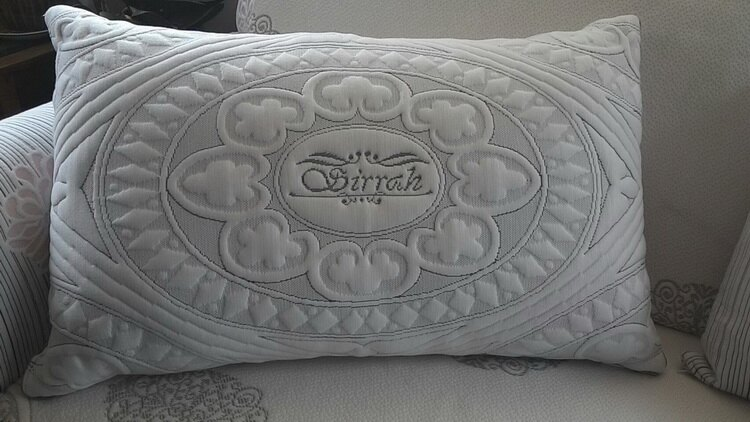 [床工坊]( 台灣製造)立體天絲舒柔布羽絲絨枕----夏季新品 2